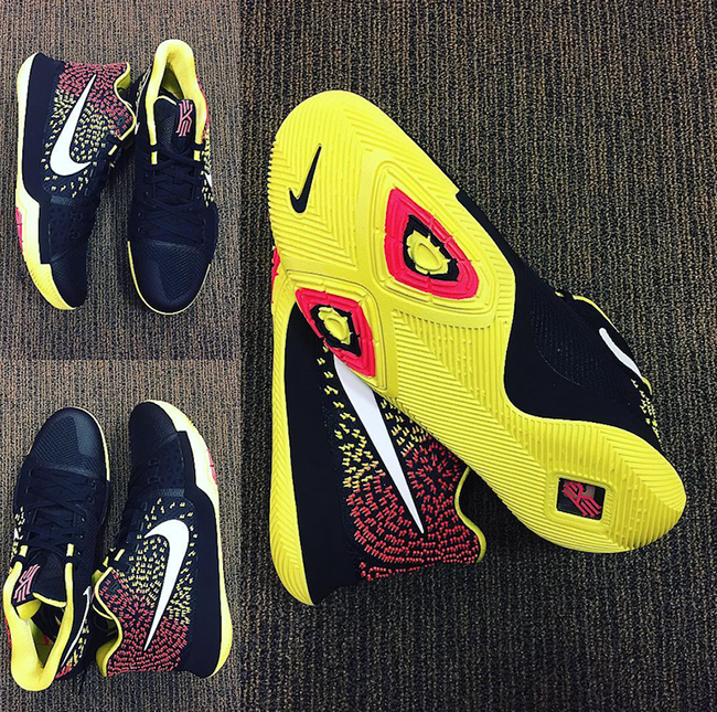 Nike Kyrie 3 Black Yellow Red PE
