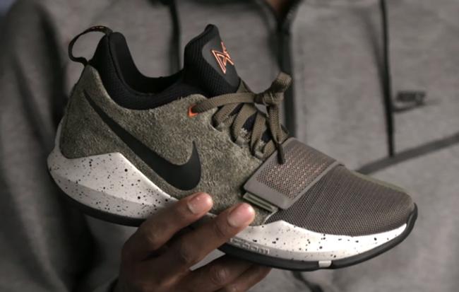 Nike PG 1 Undefeated Olive Orange Black