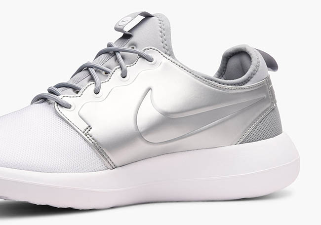 Cheap Nike Roshe One Women's Running Shoes Sheen/White/White