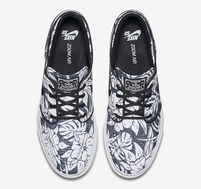 the latest d0b1f 8bad9 Nike SB Stefan Janoski Canvas Premium Floral Black White