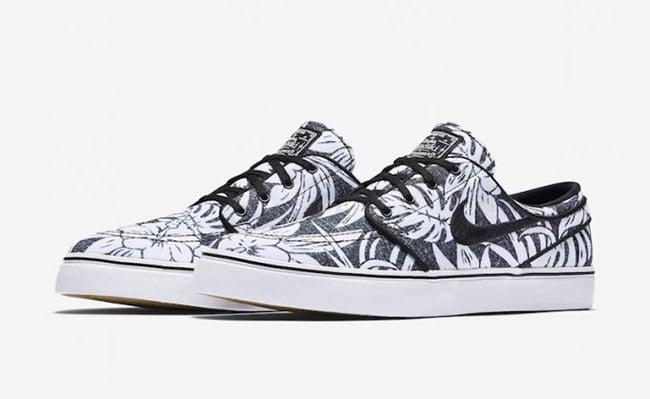 Nike SB Stefan Janoski Canvas Premium Floral Black White