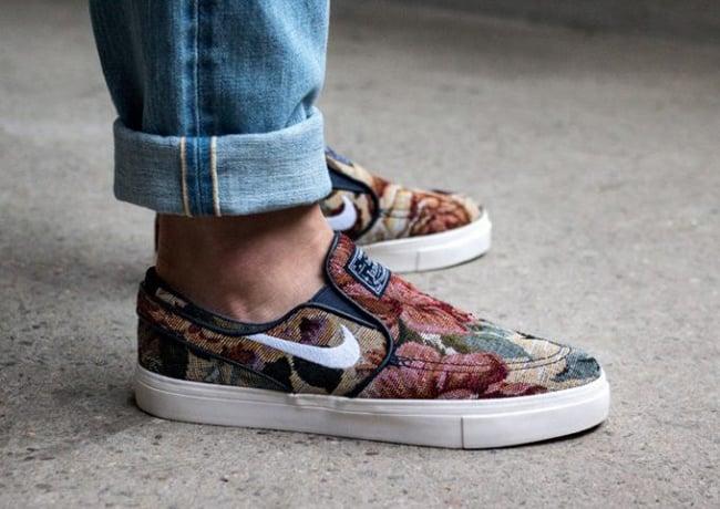 Inadecuado afijo perrito  Nike SB Zoom Stefan Janoski Slip-On Floral 902365-914 Release Date |  SneakerFiles