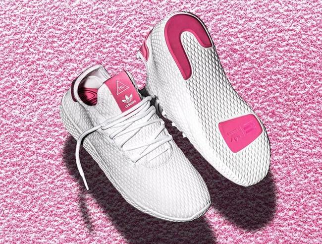 Pharrell adidas Human Race White Pink