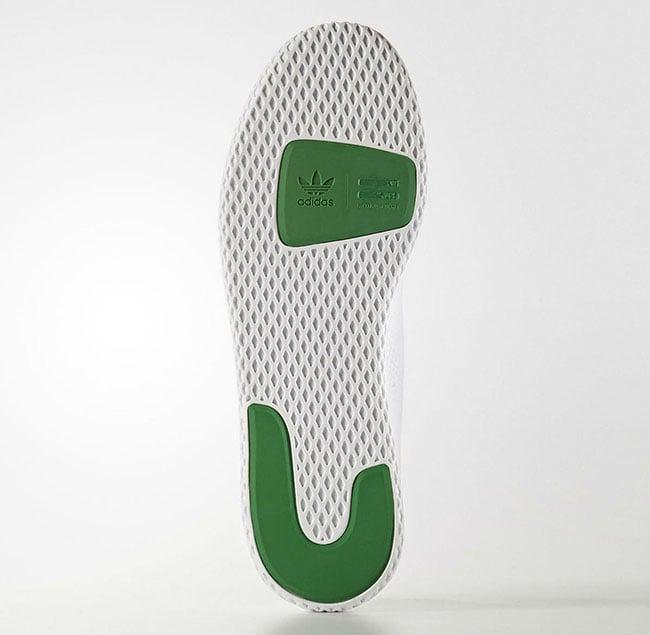 Pharrell adidas Tennis HU White Green BA7828 Release Date