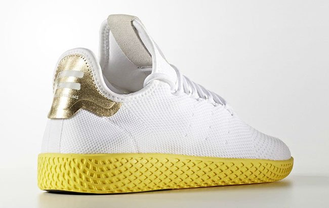 Pharrell adidas Tennis HU White Yellow BY2674 Release Date