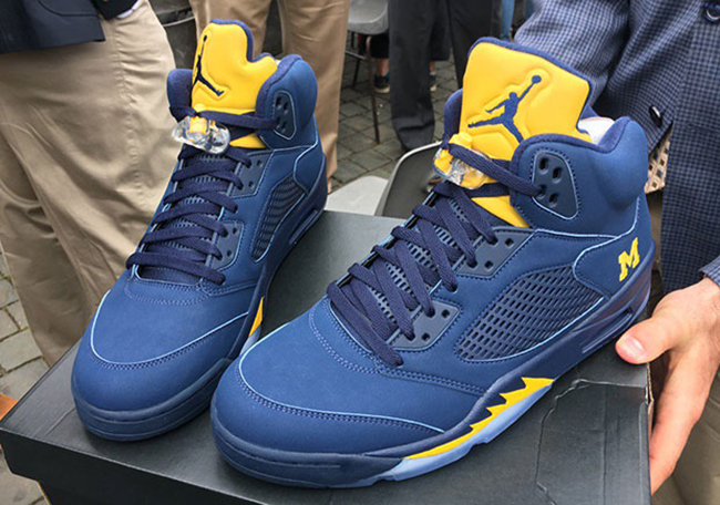 Pope John Francis Air Jordan 5 Michigan