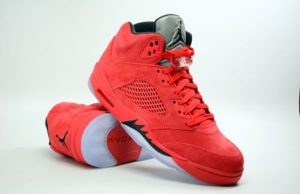 Red Suede Jordan 5 Retro 136027-602