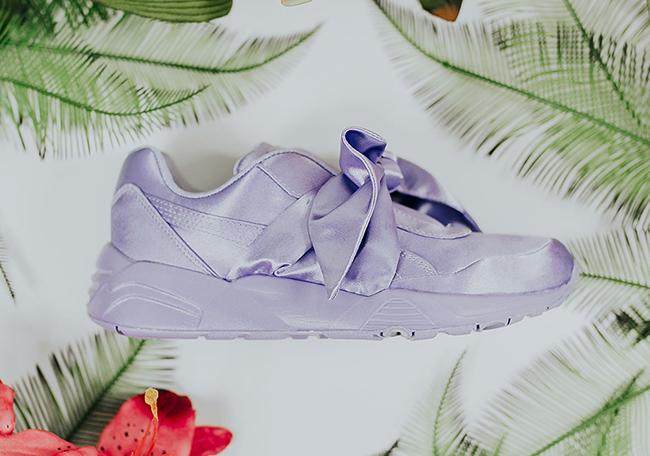 Rihanna Puma Fenty Bow Purple Pink