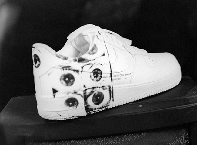 Supreme Comme des Garcons Nike Air Force 1 Release Date