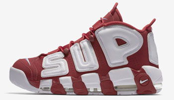 Supreme Nike Air More Uptempo Red