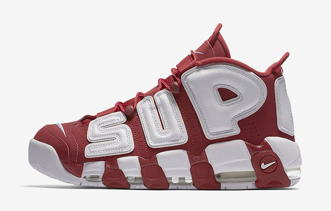 Supreme Nike Air More Uptempo Red White