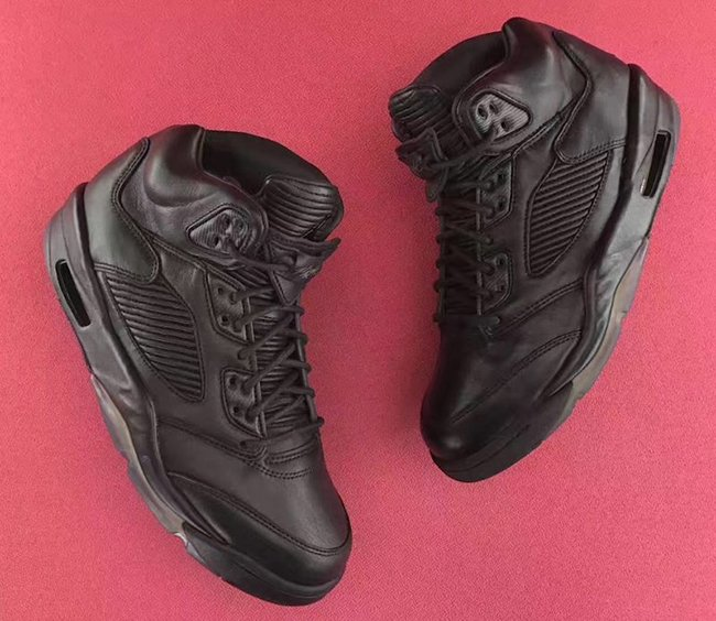 Triple Black Air Jordan 5 Premium