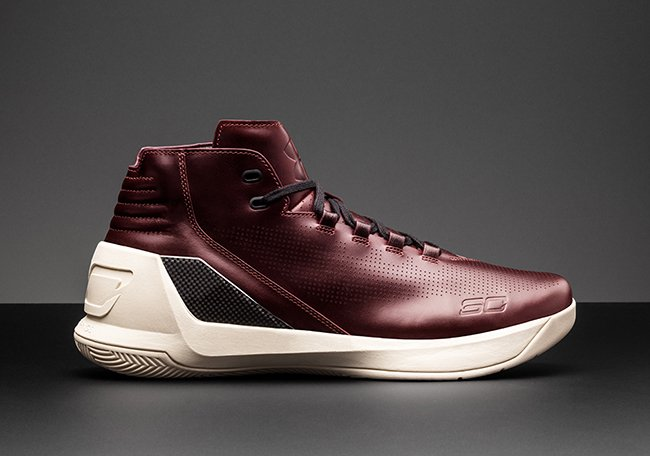 Under Armour Curry 3 Lux Oxblood Leather South Carolina