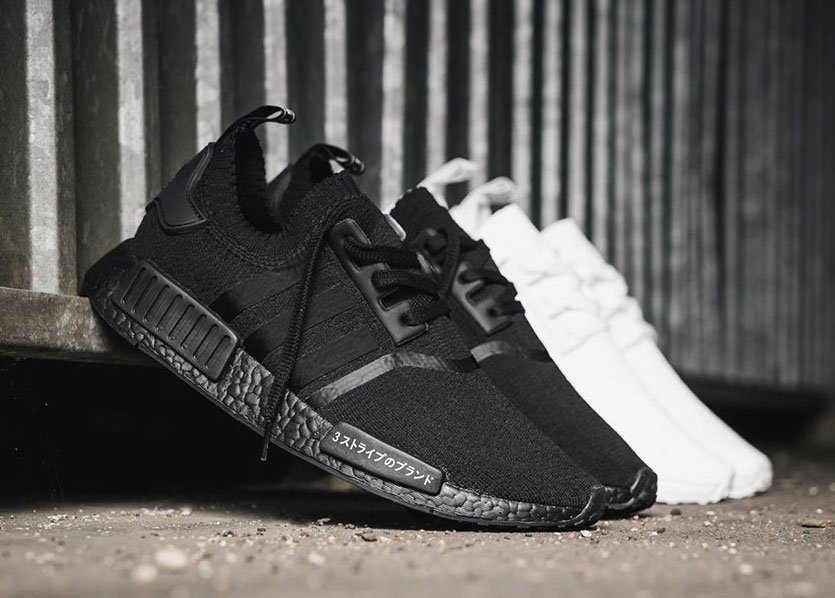 adidas NMD R1 Primeknit Triple Black Triple White Japan Pack