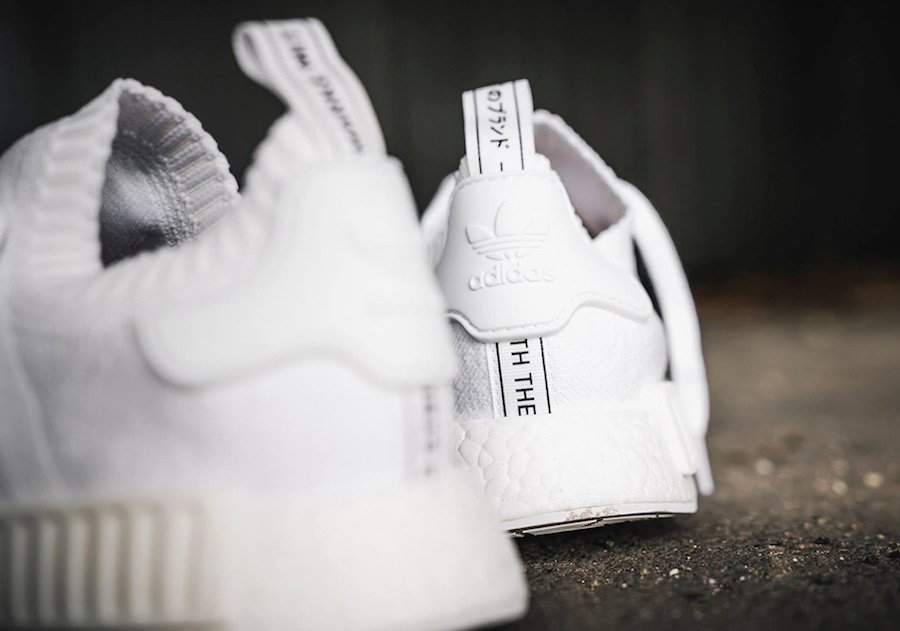 adidas NMD R1 Primeknit Triple White Japan Pack