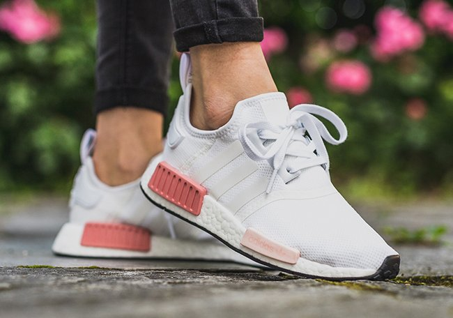 adidas NMD R1 White Rose On Feet