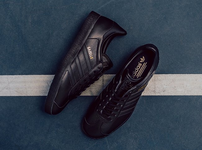 adidas gazelles black leather