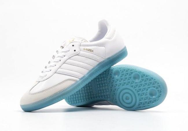 adidas samba blue and white