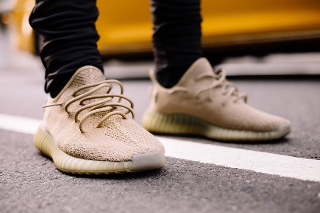 adidas Yeezy Boost 350 V2 Dark Green On Feet