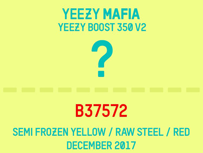 adidas Yeezy Boost 350 V2 Semi Frozen Yellow Raw Steel Red B37572 Release Date