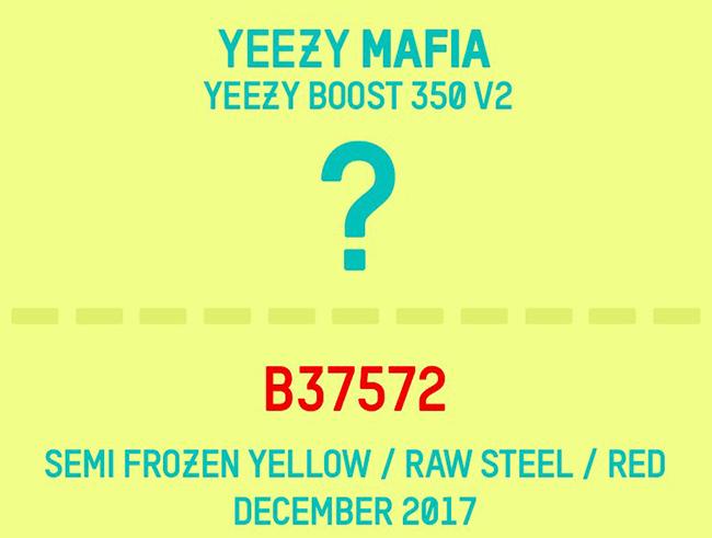 adidas Yeezy Boost 350 V2 Semi Frozen Yellow Raw Steel Red B37572 Release Date