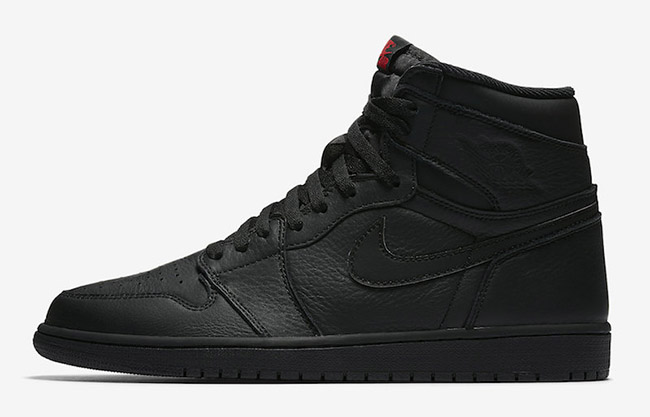 Air Jordan 1 OG Triple Black Red Release Date