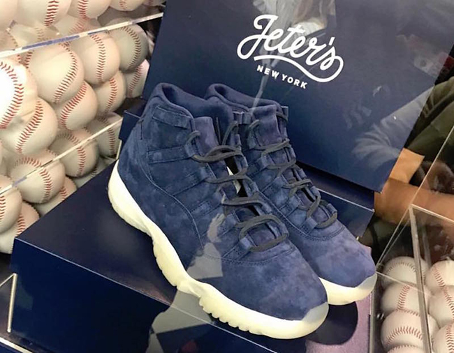 Air Jordan 11 Navy Suede Jeter