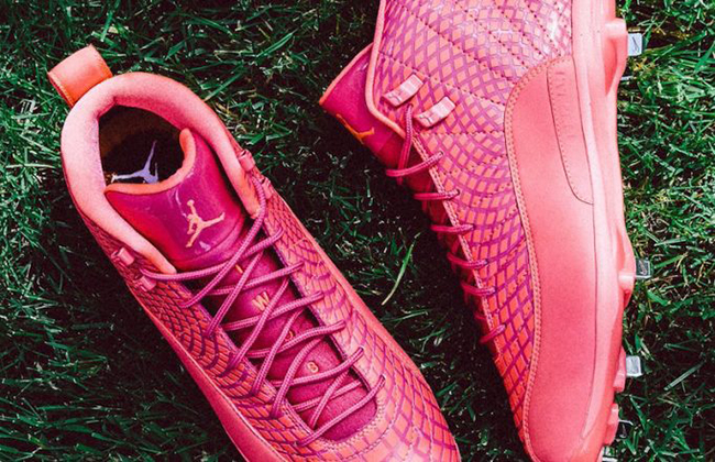 Air Jordan 12 Pink Mothers Day Baseball Cleats