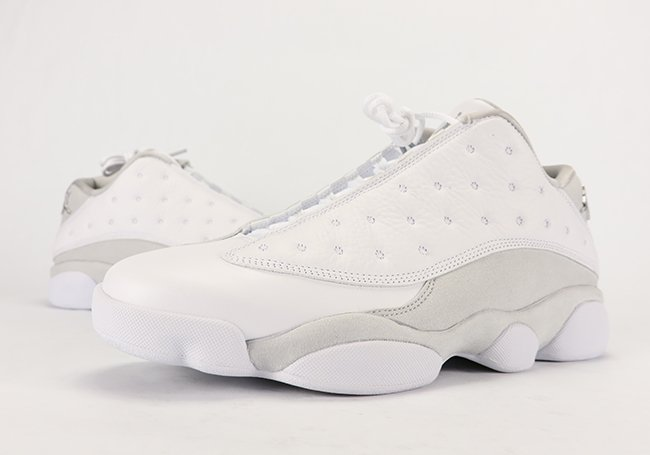 d7efcab3b592 Air Jordan 13 Low Pure Platinum Pure Money Review On Feet