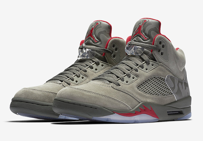 Air Jordan 5 Camo Dark Stucco