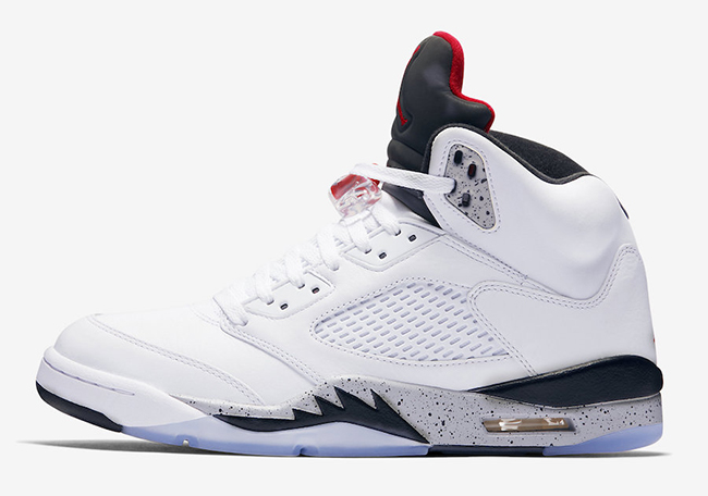 Air Jordan 5 White Cement 136027-104 Release Date