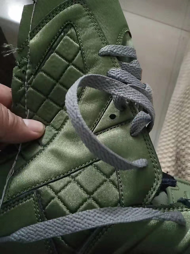 best sneakers 1c0c4 978da Air Jordan 6 Flight Jacket Olive Green Quilted Nylon ...