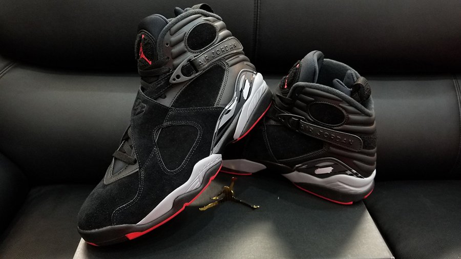 649ba047dcf238 Air Jordan 8 Bred Black Gym Red Release Date