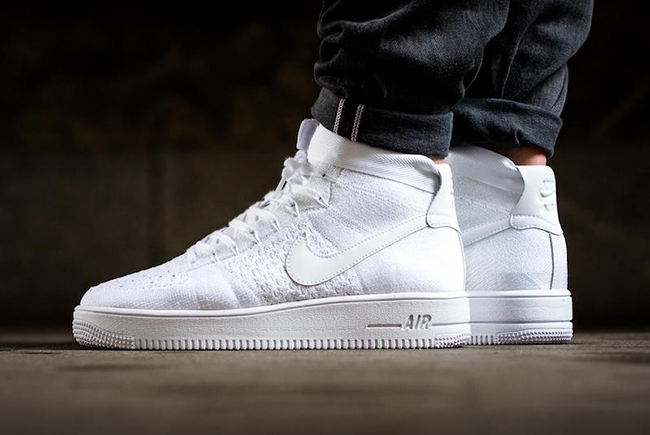 Nike Air Force 1 Ultra Flyknit - Trippel Hvite Nmds UcutOIbxG