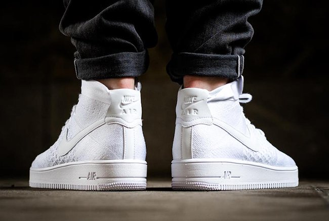 fff5d509b032 Nike Air Force 1 Ultra Flyknit Mid Triple White 817420-102 ...