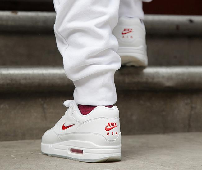 Nike Air Max 1 Jewel Swoosh White Red 2017 Retro