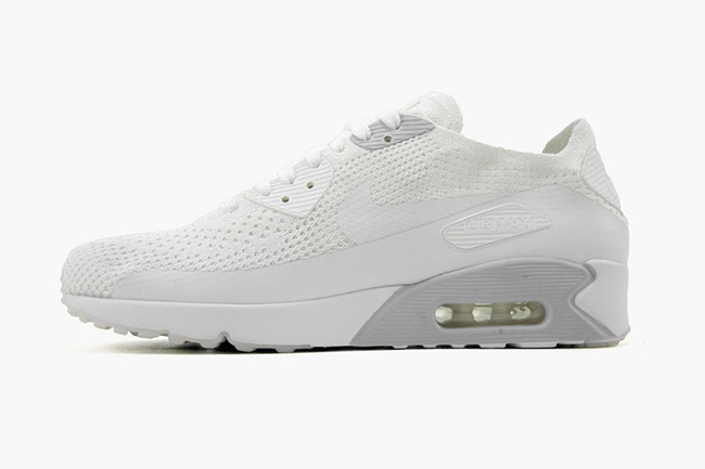 Nike Air Max 90 Ultra 2.0 Flyknit White Pure Platinum