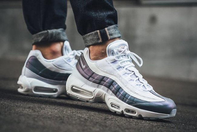 09104c8fd5 Nike Air Max 95 Iridescent Color Shifting Purple Teal | SneakerFiles