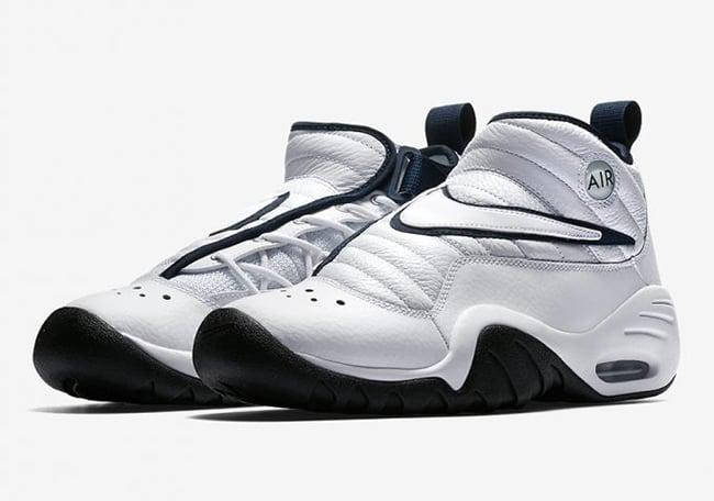 Nike Air Shake NDestrukt OG White Navy Release Date