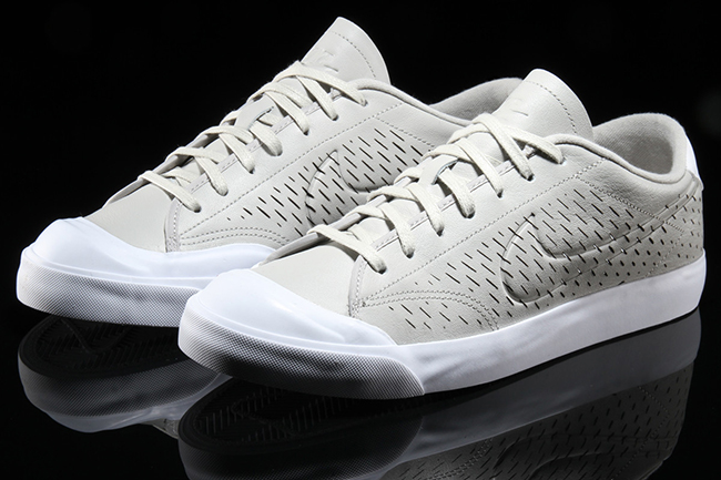 Nike All Court 2 Low Leather Cut Pale Grey