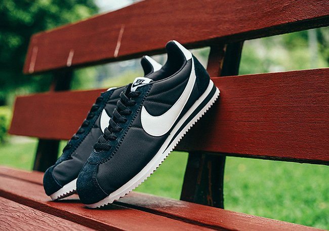 Nike Cortez Classic Black White Leather