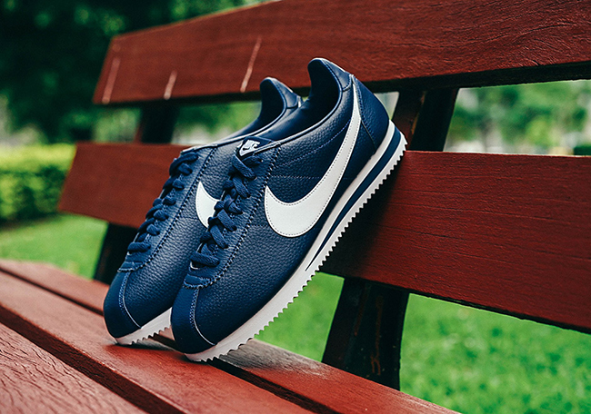 Nike Cortez Classic Navy White Leather