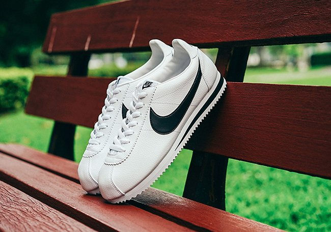 Nike Cortez Classic White Black Leather
