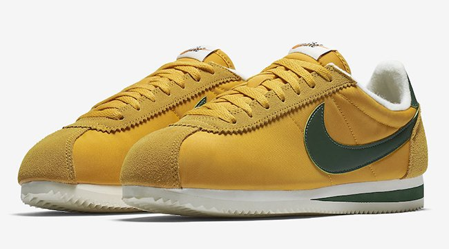 Nike Cortez Oregon Yellow Gorge Green