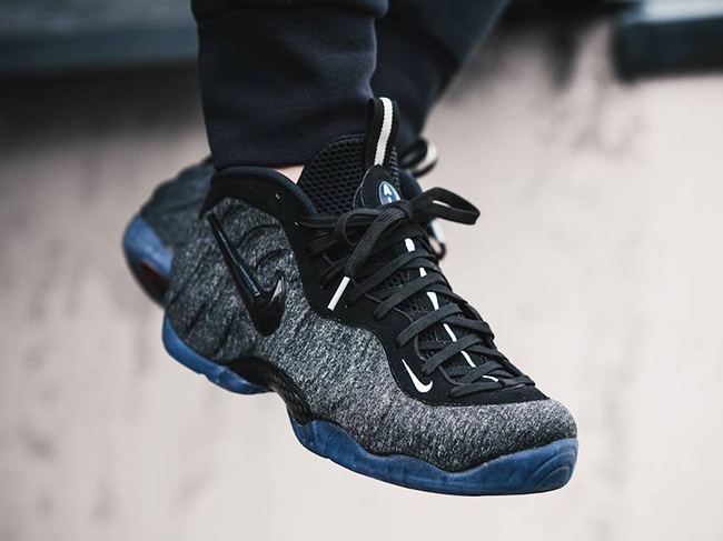 Nike Foamposite Pro Tech Fleece On Feet