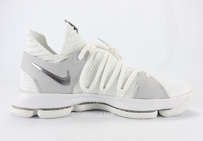 6b4fffd61aec Nike KD 10 White Chrome Pure Platinum 897815-100