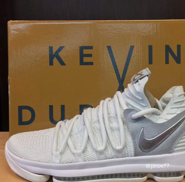Nike KD 10 White Metallic Silver Pure Platinum 304772-100