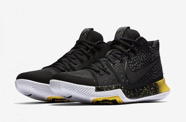 Nike Kyrie 3 Black Varsity Maize 852395-901