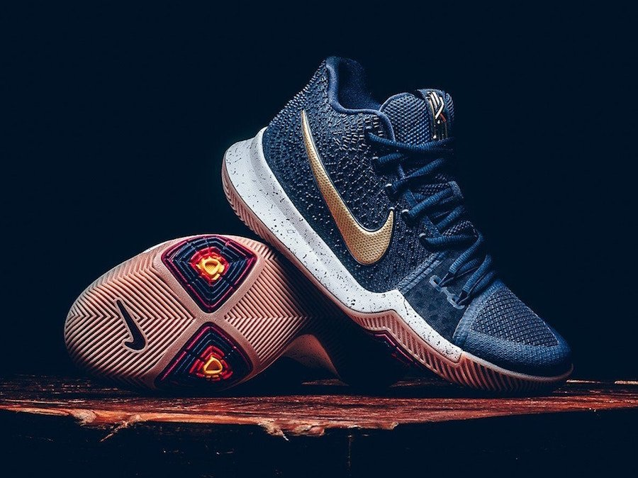 info for 1ab0d 0701e Nike Kyrie 3 Dark Obsidian Metallic Gold