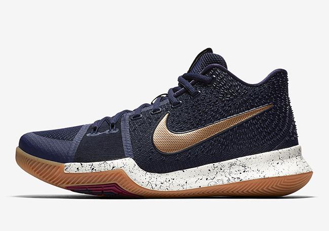 Nike Kyrie 3 Obsidian Metallic Gold 852395-400